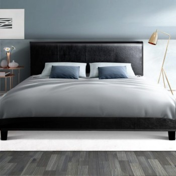 Artiss Double Size PU Leather Bed Frame