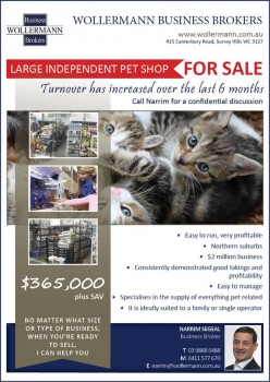 Large Independent Pet Shop for Sale in N