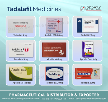 Tadalafil Brands Tablets Exporter and Wholesaler