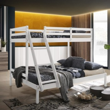 Solid Timber Triple Bunk Bed Single Over