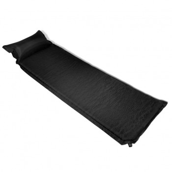 Air Mattress Black Pillow Inflatable