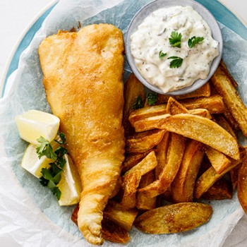 Fish & chips food @Carraway Pier