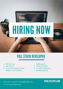 Hiring Full Stack Developer in Ahmedabad