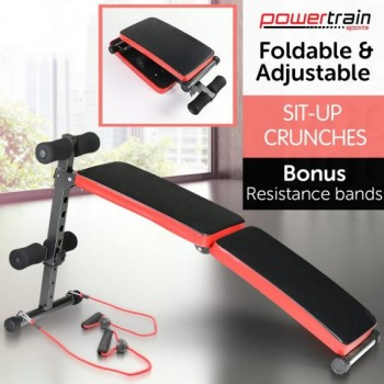 Inclined Sit up bench with Resistance ba