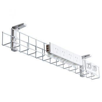 System Single Tier Under Desk Cable Bask