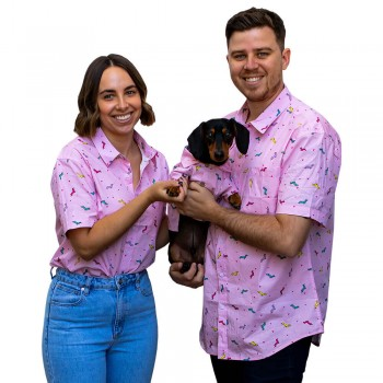 Matching Human and Dachshund Clothes
