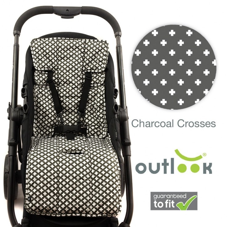 Outlook - 100% Cotton Pram Liner - Charc