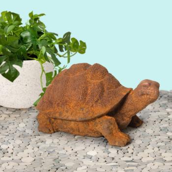 Cast Iron Turtle Statue for Garden Decor