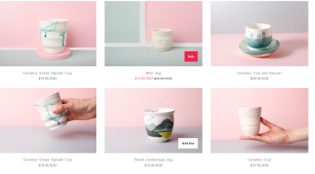 Buy Beautiful Ceramic Cup Online by Leaf