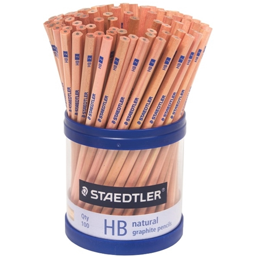 Staedtler HB Pencil Natural, Pack of 100
