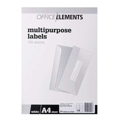 Office Elements 98x38mm Multipurpose Lab