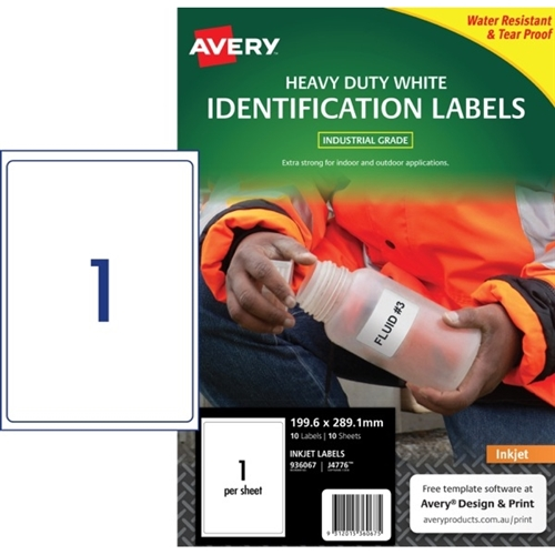 Avery Heavy Duty Inkjet Labels J4776 199
