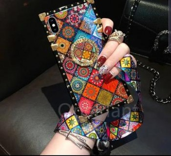 Phone cases with jeweled ring holder