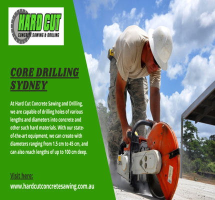 Accomplish Core Drilling Tasks Across Sydney With Our Expert Team