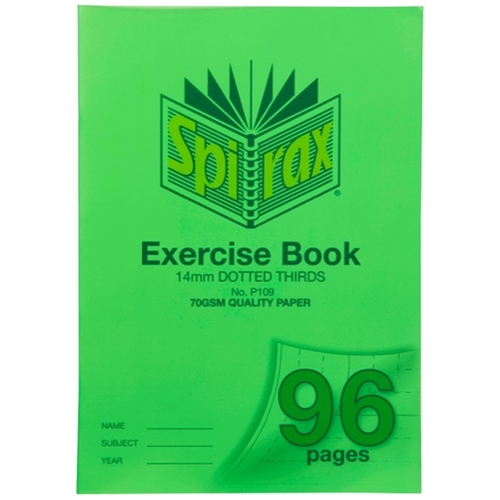 Spirax P109 Exercise Book 14mm Dotted 70
