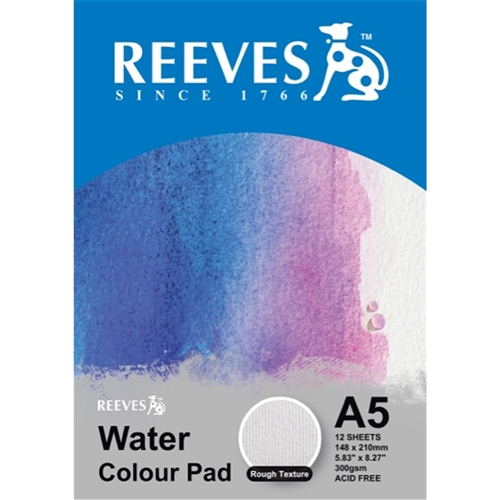 Reeves A5 Water Colour Pad Rough Texture