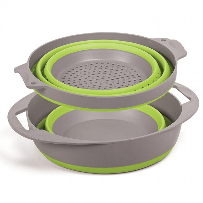 Pop Up Colander & Bowl Set - Green