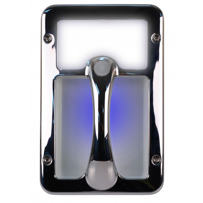 Camec LED Grab Handle Chrome With Blue