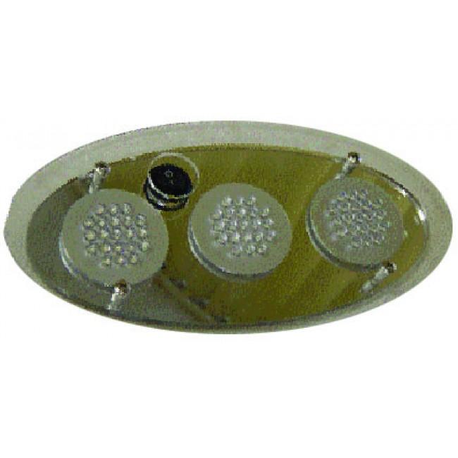 Led Plexi Ceiling Lamp 63 LEDS Oval