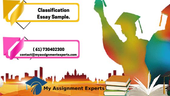 Classification E ...