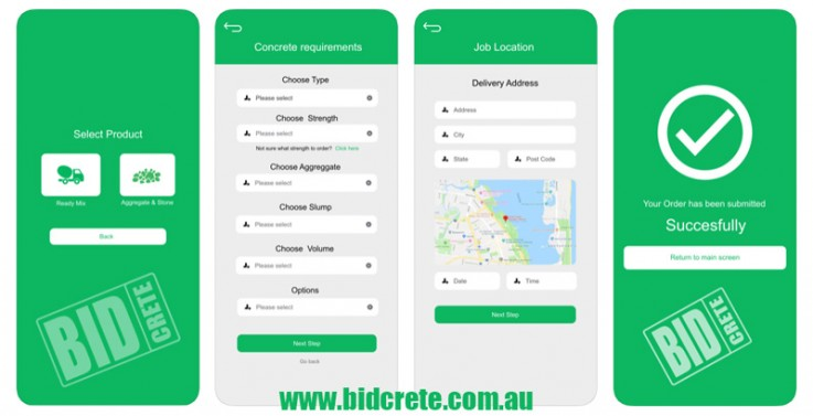 BidCrete App - Ordering Concrete Made Ea