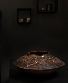 Copper Embossed Kalasha Vase