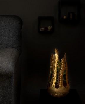 Brass embossed Indoor Planter