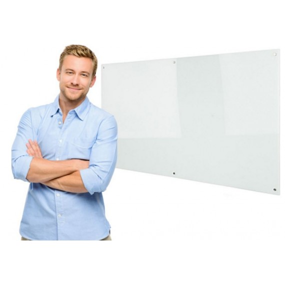 MAGNETIC GLASS BOARD WHITE