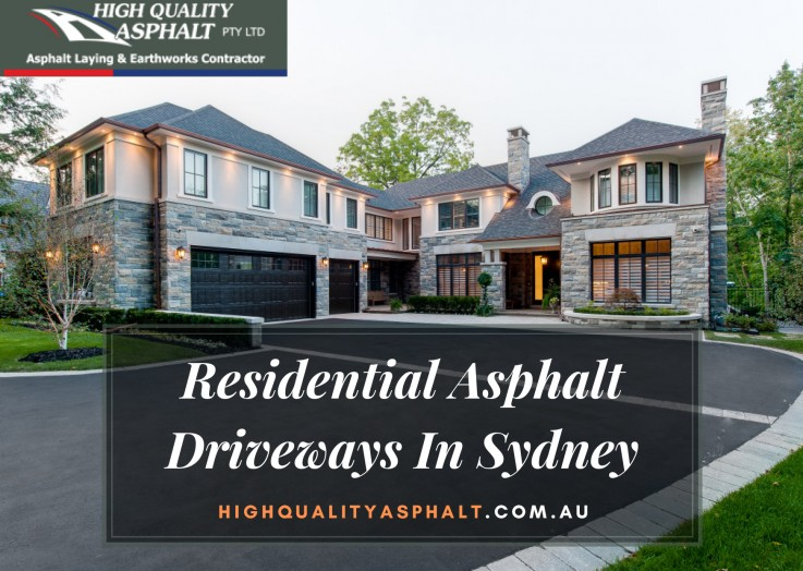 Increase The Homes' Curb Appeal With Residential Asphalt Driveways