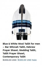 Blue Tallit - Galilee Silks