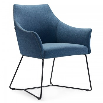 Rima Lounge Chair With Metal Sled Frame