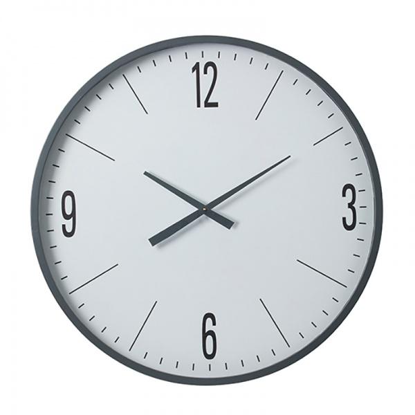 PEARSON CLOCK METAL GREY/WHITE