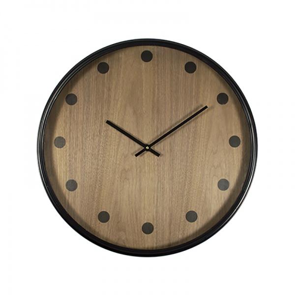 Polka Clock - Black