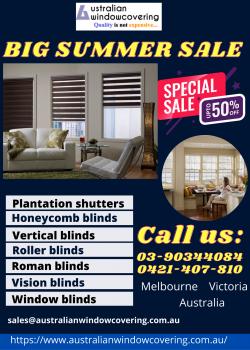 Roman blinds summer sale offer