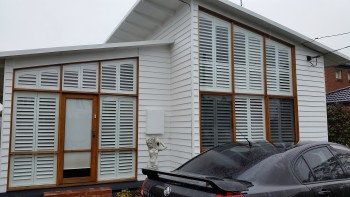 Plantation shutters add beauty and Energ