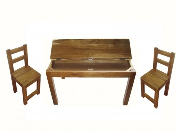 Hardwood study desk and 2 standard chair