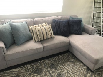 3 Seater Lounge with foot rest  grey col