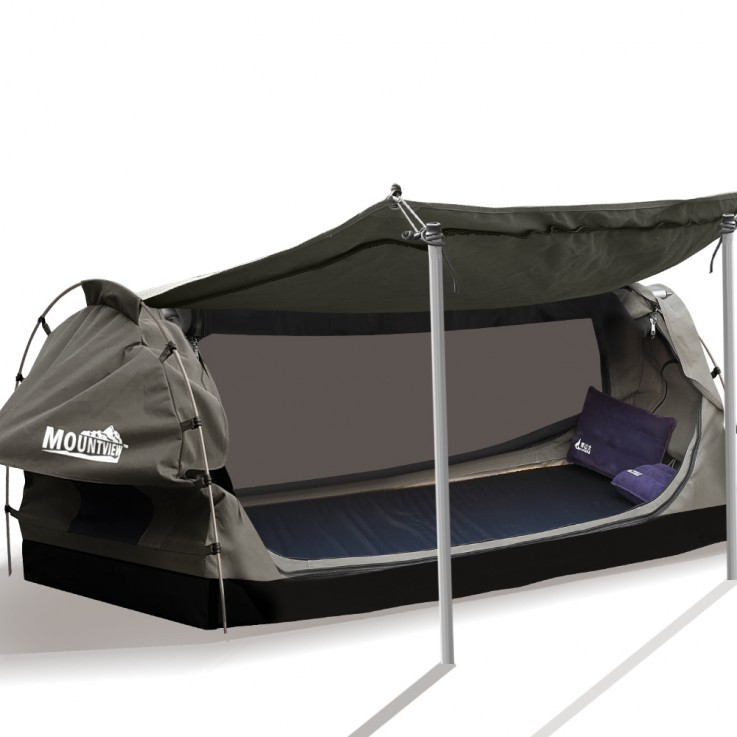 Canvas Dome Swags Free Standing In Grey