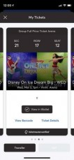 I have two lower bowl tickets To Disney