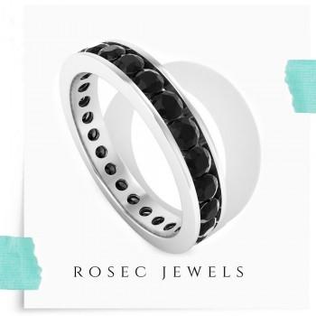 Stackable Black Diamond Eternity Ring