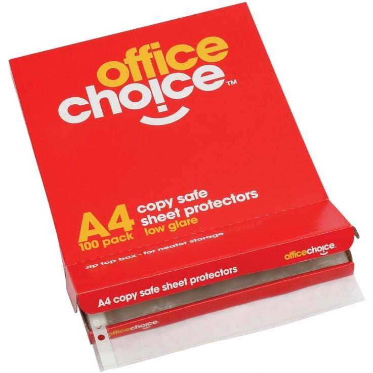 OFFICE CHOICE SHEET PROTECTORS A4 Econom