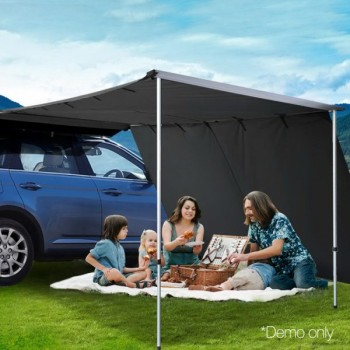 Car Shade Awning Extension 3 x 2M – Char
