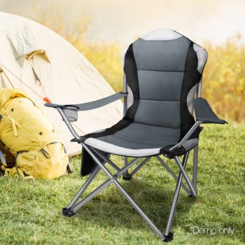 Set of 2 Portable Folding Camping Armcha