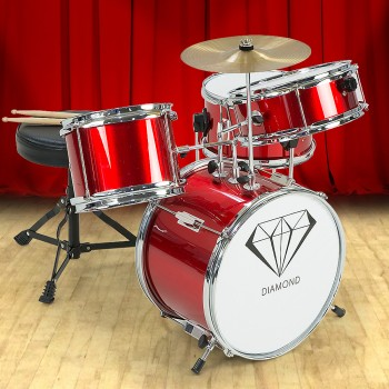 Children's 4pc Drum Kit – Red