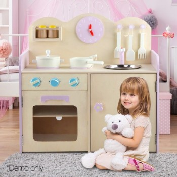 Keezi Kids Kitchen Set Pretend Play Food