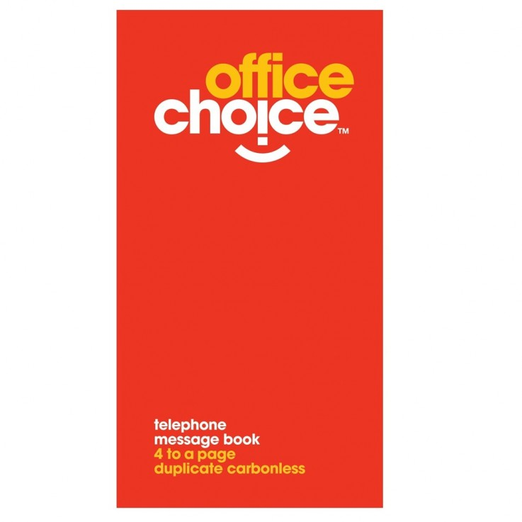 OFFICE CHOICE TELEPHONE MESSAGE BOOK 4 t