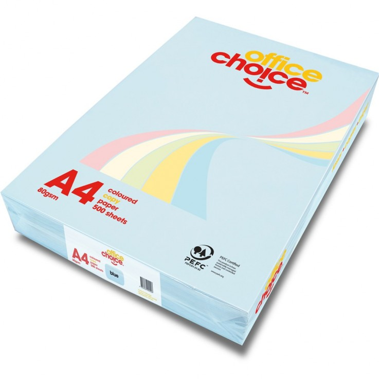 OFFICE CHOICE TINTS COPY PAPER A4 80gsm