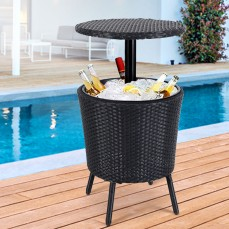 Bar Table Outdoor Setting Cooler Ice Buc