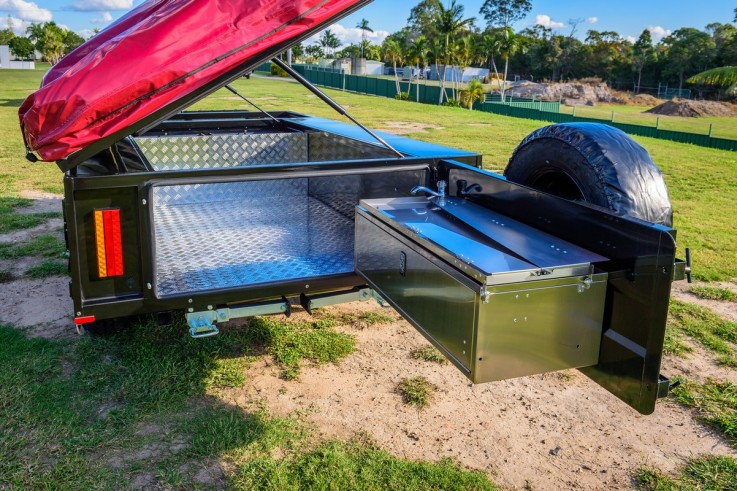 Stepthrough Camper Trailer