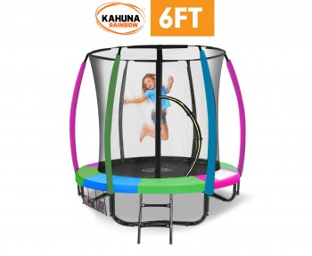 Kahuna 6 ft Trampoline with Rainbow Safe